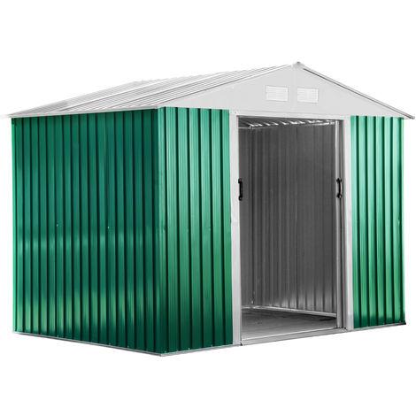 Habit Box Casetta in lamiera da giardino verde zincata 261x181x198cm BASIC L