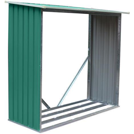 Habit Legnaia in lamiera 242x89xh190cm stoccaggio legno giardino esterno Wood B