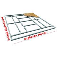 Habit Supporto pavimento base box casetta XXL-PLUS 340x382cm