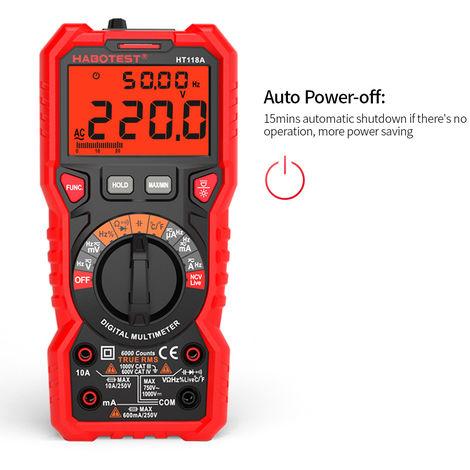HABOTEST HT118A Digital Multimeter Auto Range Multi-meter 6000 Counts True RMS