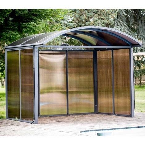 Habrita Foresta - Abri de Jardin Aluminium fermé 3 Côtés ...