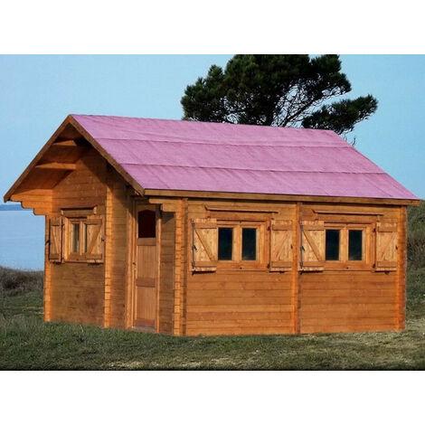 Habrita Foresta - Abri de jardin en bois 60 mm 35,34 m2 sapin massif - CZ5060.02