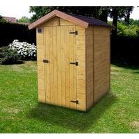 Habrita Foresta - Abri en panneaux 12mm toilette sèche extérieure 120x160cm - ED1419WC