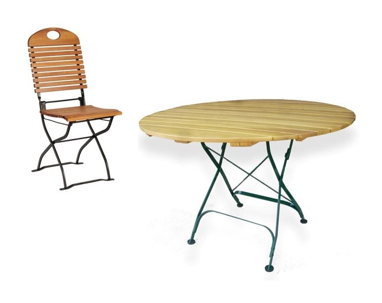 Habrita Foresta Composition Mobilier Jardin Table Ronde O 110 Cm
