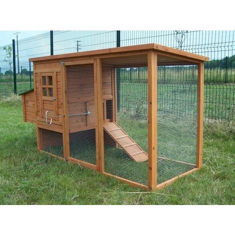 Habrita Foresta - Poulailler standard 1,50m2 3-4 poules toit bitumé 1 pente - PO2070