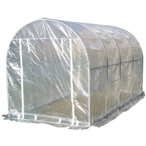 Habrita Foresta - Serre de jardin tunnel structure acier 12 m2 - SRA3040EU