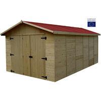 Habrita - Garage panneaux 16 mm surface ext. 15,60 m2 - ED2848N