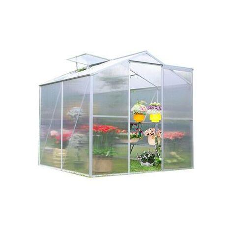Serre de jardin aluminium 2.51 m2