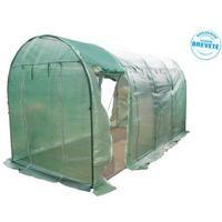 Habrita - Serre jardin tunnel 4 saisons ventilée avec 8 panneaux ouvrant surface 9 m2 - SRA2045PEV