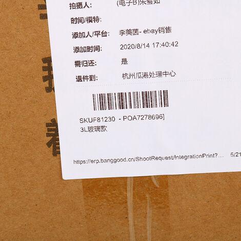 Hachoir à viande électrique multifonction EU 220V 3 vitesses 3L hachoir en acier inoxydable 304 (type de base en verre 3L)