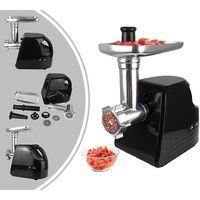 Hachoir à Viande, Machine à Saucisses, Noir, avec plaques pour hachoir, Puissance maximale: 1600 W