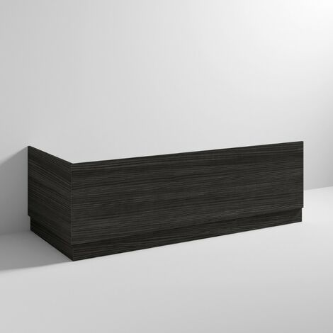 Hacienda Black 1700mm Bath Front Panel & Plinth