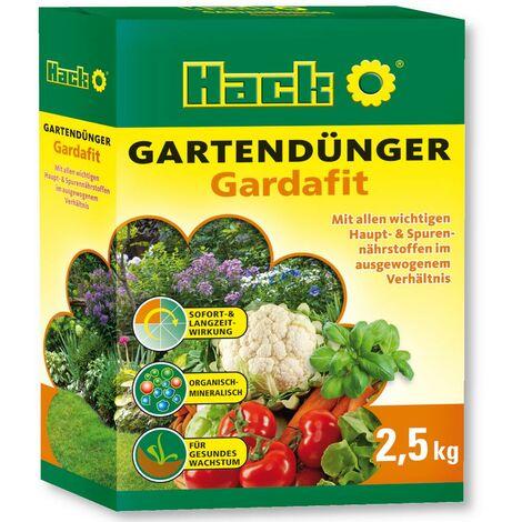 HACK engrais de jardin universel Gardafit 2,5 kg engrais pour fleurs, engrais pour légumes, engrais pour fruits
