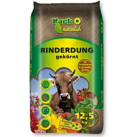 HACK fumier de bovins 12,5 kg engrais naturel, engrais organique, engrais écologique, engrais de jardin universel