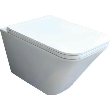 Hänge-Toilette aus Keramik 36x55 cm serie Crio