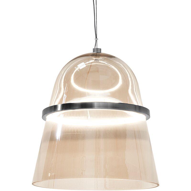 Beliani - Hängeleuchte LED Gold Rauchglas Golcke Industrie Look Moderne Pendelleuchte