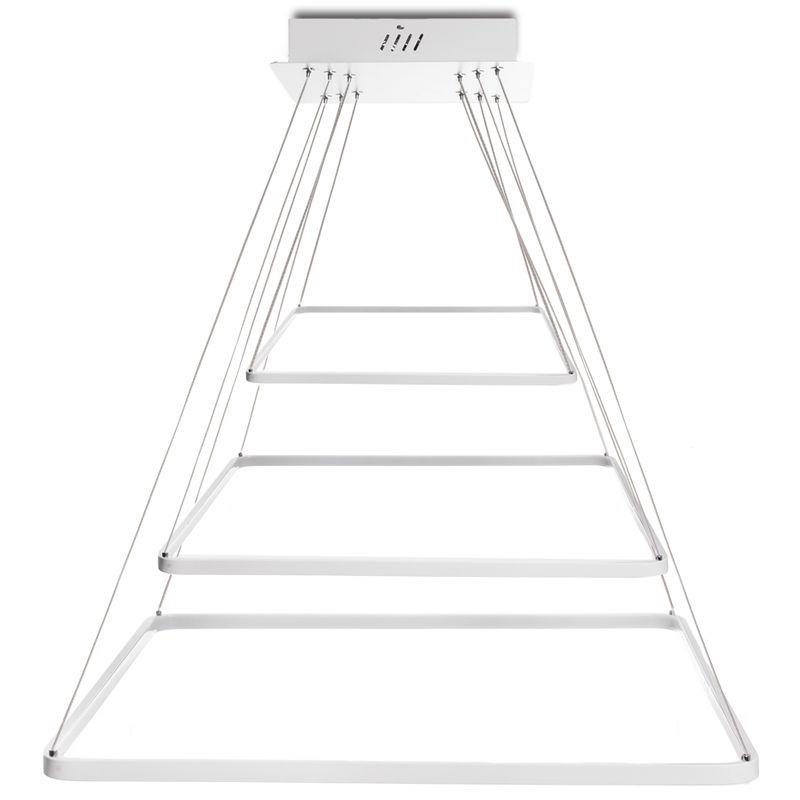 Hängelampe LED Quadrat 36W 2900Lm 30.000H Sloane | Natürliches Weiß (HO-SUS-SQ-36W-03-W) - GREENICE
