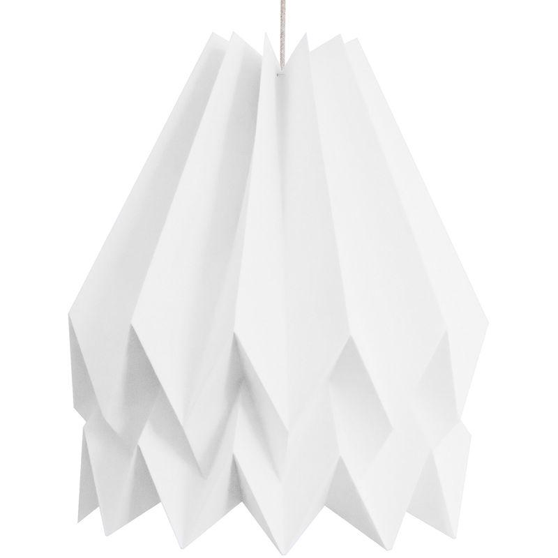 Greenice - Hängelampe Papier 160g - Kabel Textil Sand 1M - E27 Weiß Polar [ORI-PS-P-W] (ORI-PS-P-W)