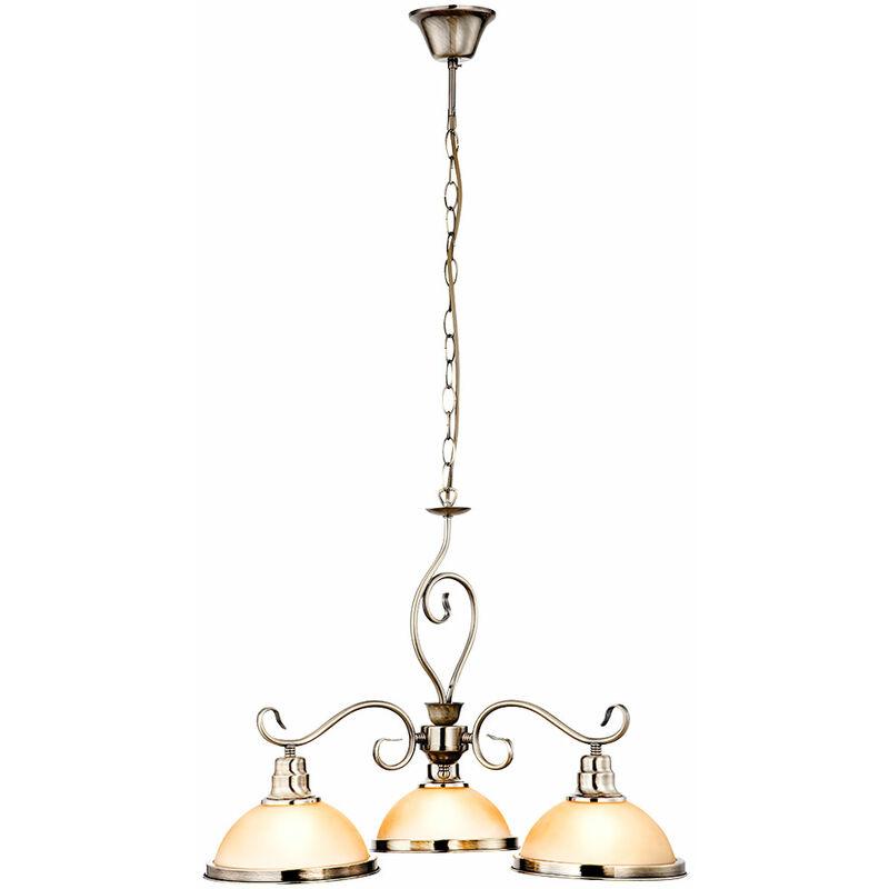 Globo - Pendel Hänge Lampe Wohn Ess Zimmer Decken Kronleuchter messing Luster Glas Leuchte 6905-3