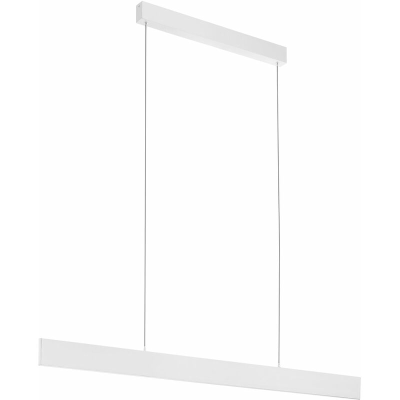 Eglo - Hängeleuchte Climene Pro 19,8 W 1180 mm Aluminium weiß strukturiert