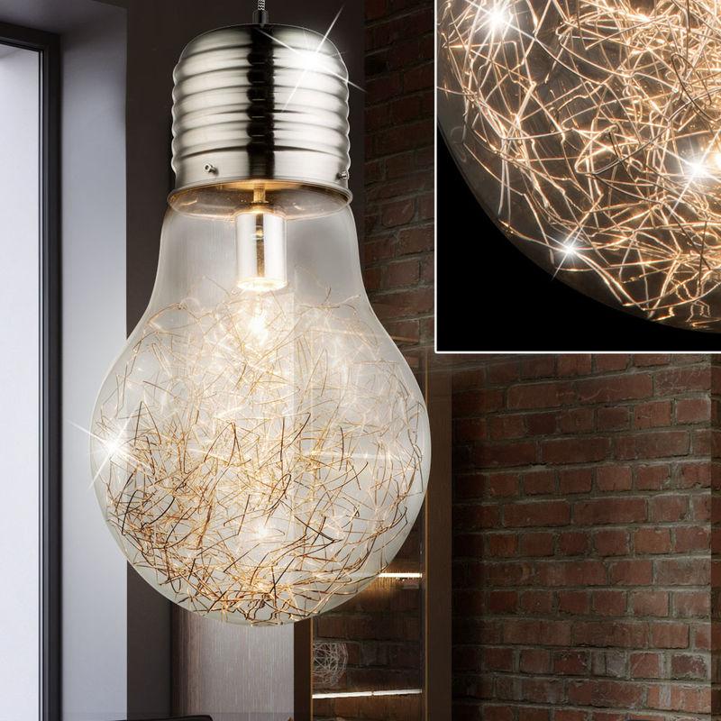 Hängeleuchte in Glühbirnen Design mit Drahtgeflecht LEVIN