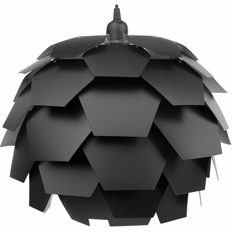 Beliani - Hängelampe Schwarz Kunststoff Zapfenform Wohnzimmer Schlafzimmer Flur Salon Ausstattung