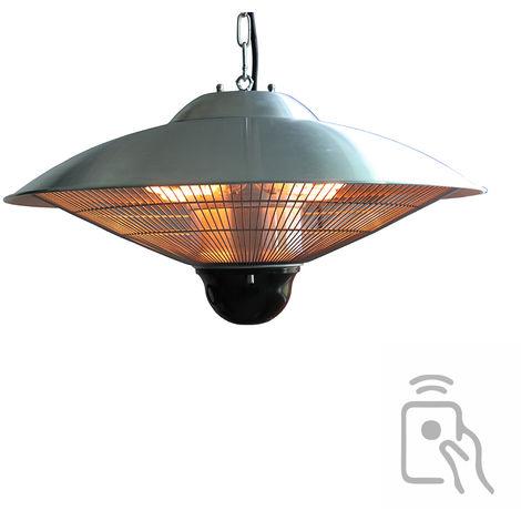 Fernbedienung /& LED-Beleuchtung Wiltec Deckenheizstrahler mit 3 Heizstufen 500//1000//1500W