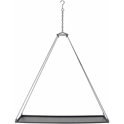 Hängeregal Freischwebend Metall Kerzentablett Schwarz 65 Cm