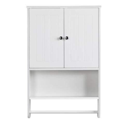 """main image of """"HängeschrankWandschrank mit Einer Tür Badschrank Küchenschrank Medizinschrank in Weiß, 35 x 20,7 x 55 cm"""""""