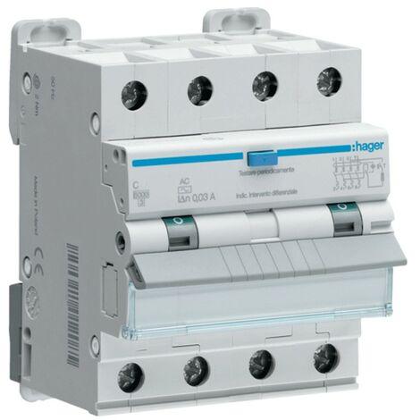 Hager 4P 30MA 32A magnétothermique disjoncteur à courant résiduel ADP482H