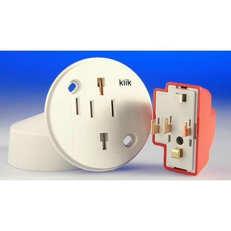 Hager Klik 4 Pin Plug in Ceiling Rose (CR64AX)