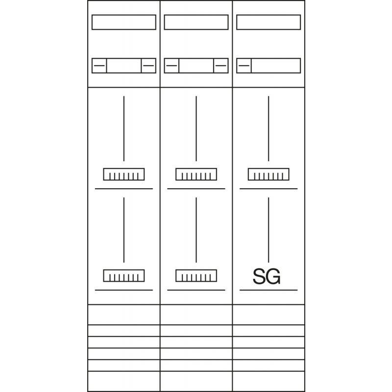 Legrand 001301 KLEINVERTEILER AP 1-MODUL
