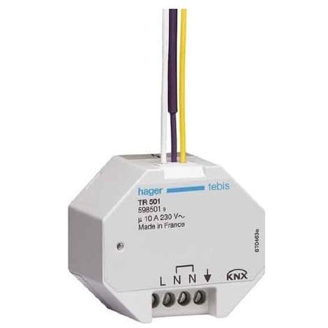 Hager TR501 - Relais 1 Sortie 10A + 1 entrée binaire 230V - à encastrer
