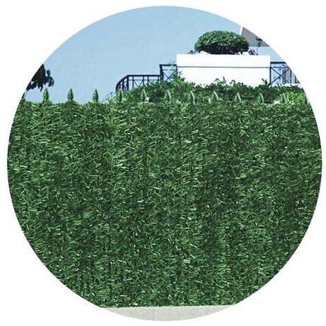 Haie artificielle 126 brins vert sapin en rouleau Ultra (Lot de 8) 1.5 x 3 m