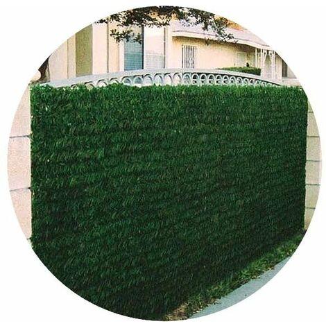 Haie artificielle 140 brins vert thuya en rouleau (Lot de 8) 1 x 3 m - Vert