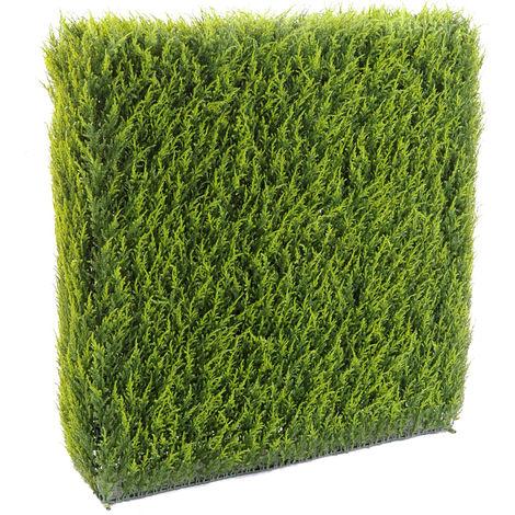HAIE artificielle haute gamme Spécial extérieur / Cyprès artificiel Juniperus vert - Dim : 65 x 23 x 95 cm