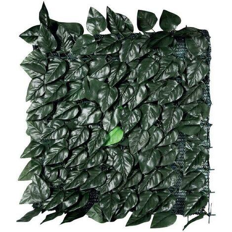 Haie decorative laurier toujours verte avec filet 1,5x3mt d031012110