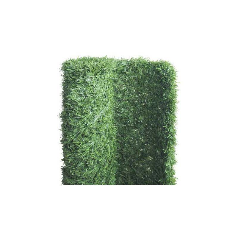 Haie végétale artificielle 243 brins , Long 18 m, Hauteur 1.50 m - ATOUT LOISIR