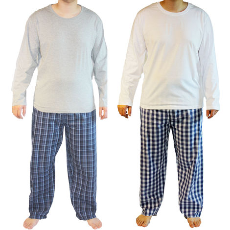 Haigman Mens Cotton Long Pyjama Lounge Wear (Pack of 2)