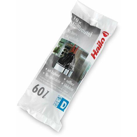 Hailo 0060-001 Sac poubelles Noir