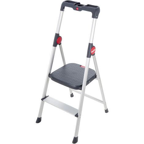 HAILO 4362-001 - Mini escalera de aluminio Widestep (2 peldaños)