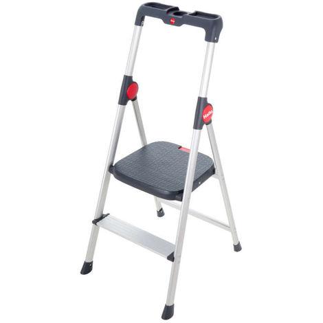 HAILO 4363-001 - Mini escalera de aluminio Widestep (3 peldaños)