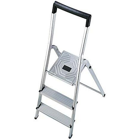 HAILO 5_8943-001 - Escalera de tijera de aluminio L40 EasyClix (3 peldaños)