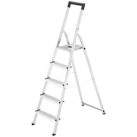 HAILO 5_8947-001 - Escalera de tijera de aluminio L40 EasyClix (7 peldaños)