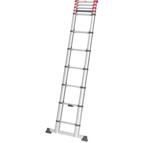 HAILO 7113-132 - Escalera telescópica de aluminio FlexiLine 380 de 13 peldaños