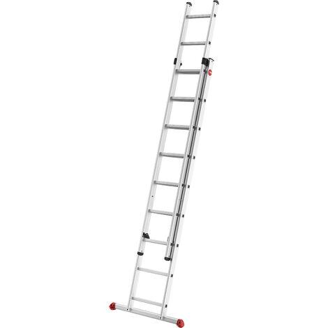 HAILO 7215-007 - Escalera aluminio 2 tramos corredera ProfiStep Duo (2x15 peldaños)