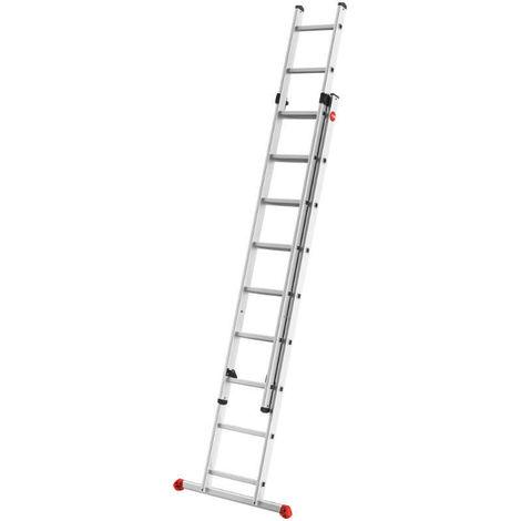 HAILO 7218-007 - Escalera aluminio 2 tramos corredera ProfiStep Duo (2x18 peldaños)