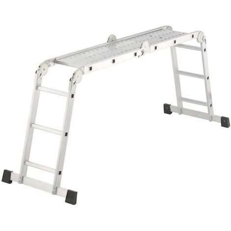 HAILO 7412-031 - Escalera aluminio articulada ProfiStep Combi (4x3 peldaños)