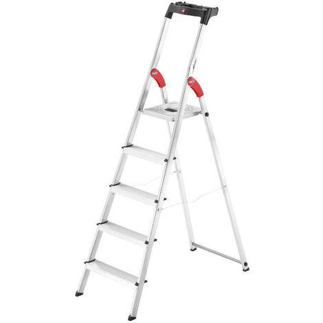 HAILO 8160-607 - Escalera de aluminio de tijera L60-EasyClix (6 peldaños)
