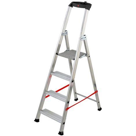HAILO 8845-011 - Escalera de tijera profesional Alu PRO (5 peldaños)